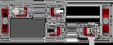 Mecanismo Sistema de Apertura Elevadora de PVC